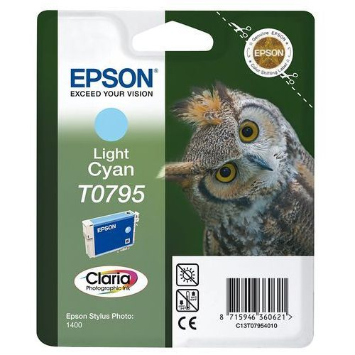 Epson oryginalny ink C13T079540, light cyan, 11,1ml, Epson Stylus Photo 1400 (8715946360621)