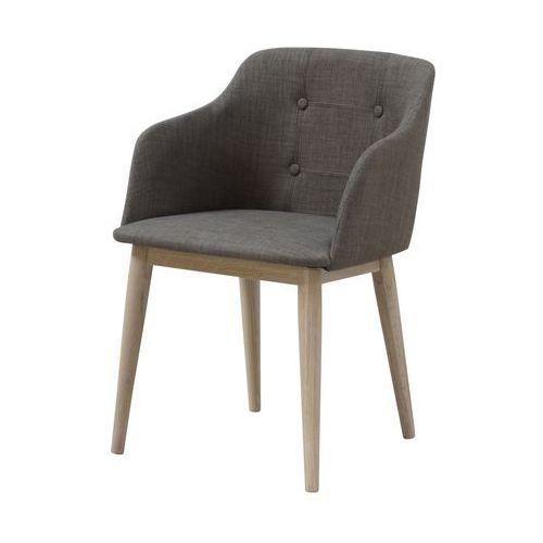 Interstil Krzesło corpus szare, tkanina rio, drewno olejowane, 22114-4