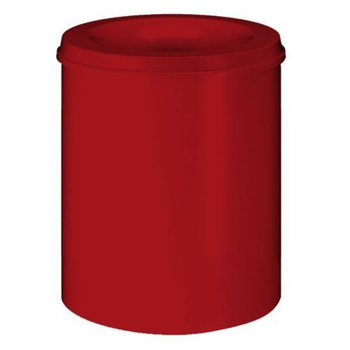 Kosz na papier, samogaszący, poj. 80 l, korpus czerwony / głowica gasząca czerwo marki Vepa bins