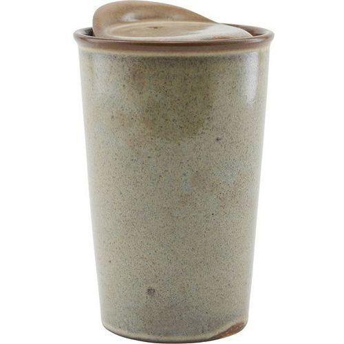 Kubek To Go ceramiczny brązowy, JN0402