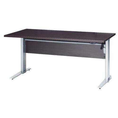 Prima biurko z el. regulowanymi nogami 150 cm - dąb antracyt \ biały marki Tvilum