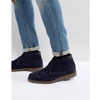Pier One Suede Warm Lining Desert Boots In Navy - Navy
