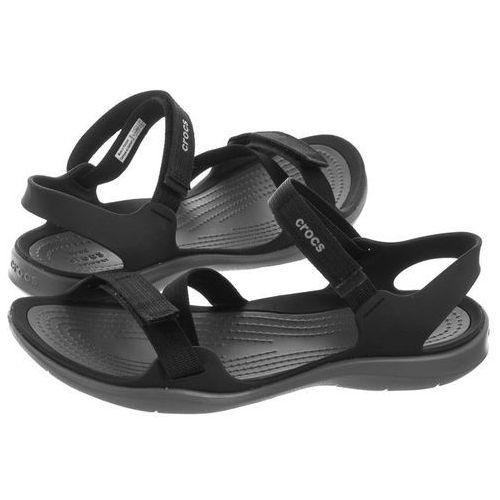 Sandały swiftwater webbing sandal black 204804-001 (cr147-d) marki Crocs
