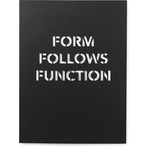 Plakat form follows function marki Cinqpoints