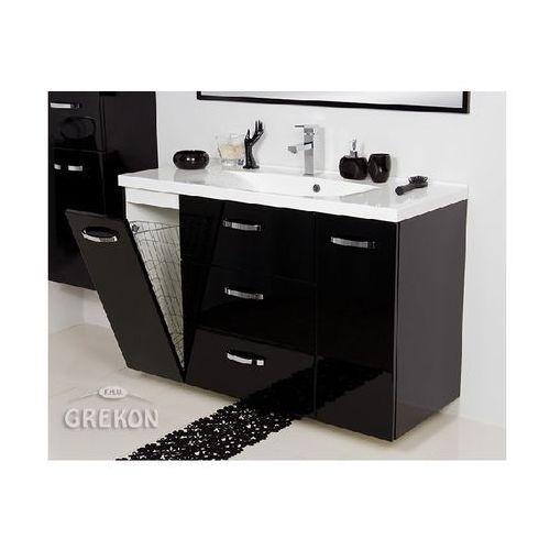 Gante Czarna szafka łazienkowa z umywalką 120/48/k jona