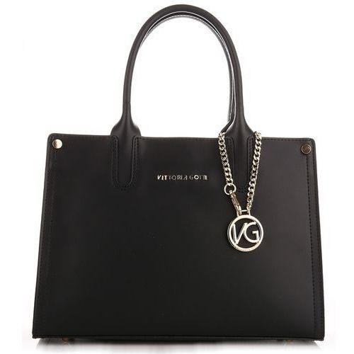 OKAZJA - made in italy ekskluzywna torebka skórzana kuferek czarny (kolory) marki Vittoria gotti