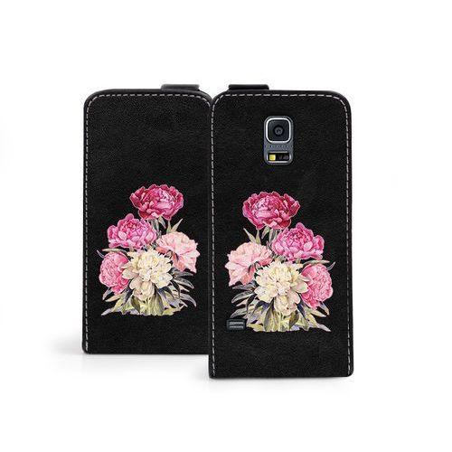 Samsung Galaxy S5 Mini - etui na telefon Flip Fantastic - różowy bukiet, kolor różowy