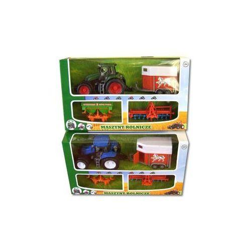 DROMADER Traktor + 3 Maszyny Rolnicze