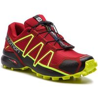 Buty SALOMON - Speedcross 4 407390 27 V0 Red Dahlia/Black/Safety Yellow, kolor czerwony