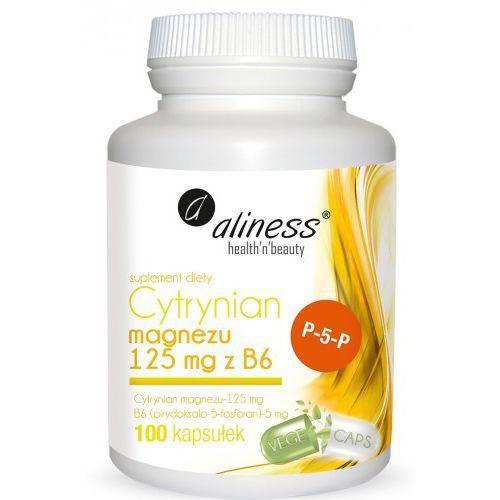 Cytrynian Magnezu 125 mg z B6 (P-5-P) 100 kaps.