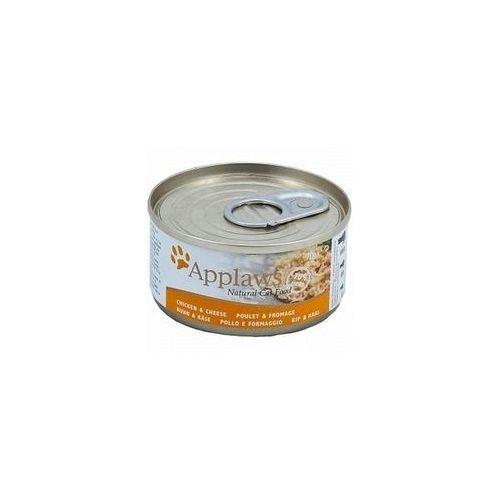 APPLAWS Natural Cat Food Kurczak I Ser 156g