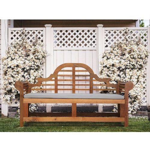 Ławka ogrodowa drewniana 180 cm poducha szaro-beżowa JAVA Marlboro (7105277591541)