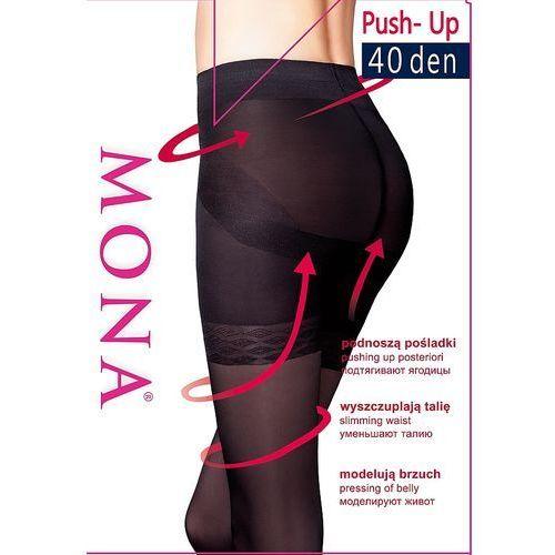 Rajstopy Mona Elianto push-up 40 den 5-XL 5-XL, czarny/nero, Mona, 5901282303115