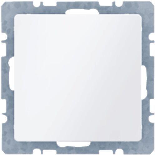 Berker q.1 zaślepka z płytką czołową, bez pazurków rozporowych, biały, aksamit 10096089 (4011334312116)