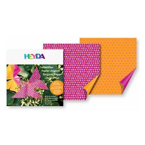 Papier do origami 20x20cm  motylki,kwiaty x40 marki Heyda