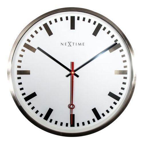 Zegar ścienny super station indeks marki Nextime
