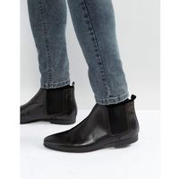 River Island Leather Chelsea Boots In Black - Black