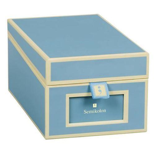 Semikolon Pudełko na wizytówki die kante błękitne