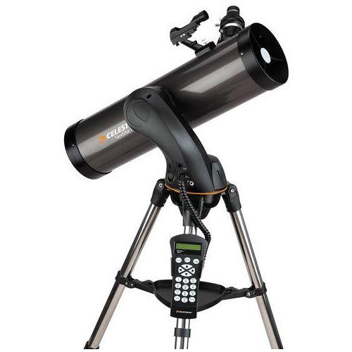 Celestron NexStar teleskop zdalnie sterowany komputerem, do wyboru 90mm / 103mm / 127mm / 130, ponad 40000 ciał niebieskich w pamięci, niemieckie menu (może nie być dostępne w polskiej wersji językowej), GPS, SkyQ Link, WiFi, w zestawie GOTO uchwyt widelcowy, statyw stalowy, wskaźnik gwiazd, osłona wizjera, okular 25mm i 9mm, płyta CD-ROM The Sky Lev.1 do komputerów z systemem operacyjnym Windows (4047825022646)