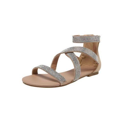 NEW LOOK Sandały z rzemykami 'HAZY' cielisty / srebrny