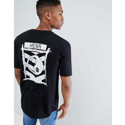 peace sign oversized t-shirt - black marki Le breve