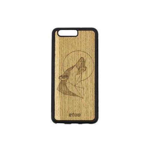 Etuo wood case Huawei p10 - etui na telefon wood case - wilk - dąb