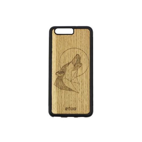 Huawei P10 - etui na telefon Wood Case - Wilk - dąb