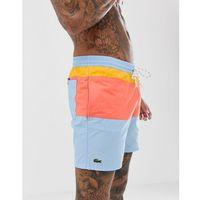 Lacoste colour block swim shorts in multi - Multi