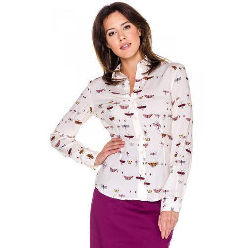 Duet woman Kremowa koszula w motyle -