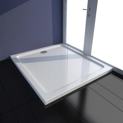 vidaXL Brodzik prysznicowy prostokątny ABS biały 80 x 90 cm (8718475904878)