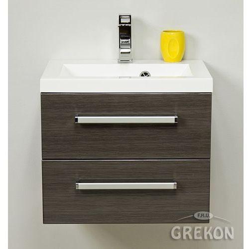 Gante Grafitowa szafka wisząca z umywalką 50/39/2 seria fokus fino