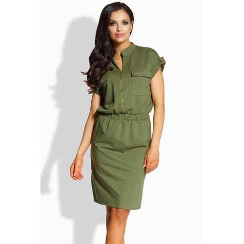 Sukienka model l207 khaki marki Lemoniade