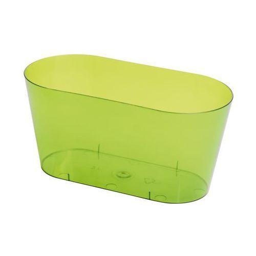 Osłonka na storczyki 26.7 x 13.5 cm plastikowa zielona marki Form-plastic