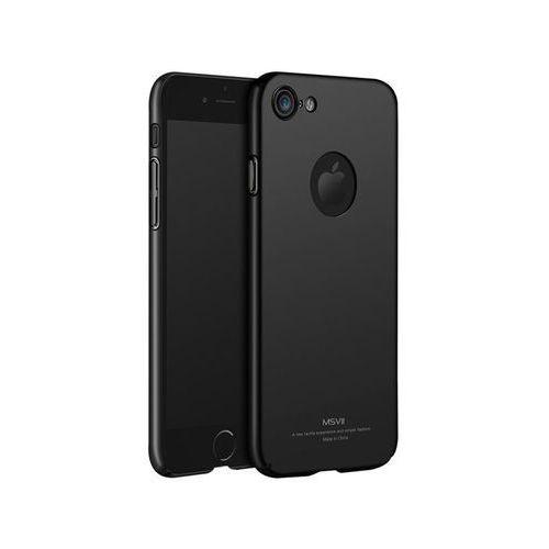 Etui MSVII Thin Case Apple iPhone 7 Czarne z wycięciem +szkło - Czarny
