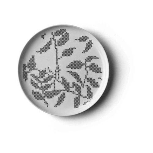 - talerz grey leaves - mały - mały marki Menu
