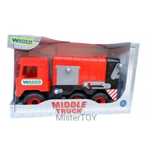 Middle Truck Śmieciarka czerwona w kartonie - Wader (5900694321137)