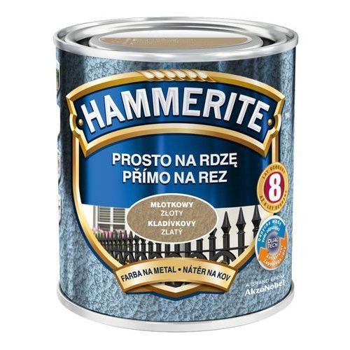 Hammerite Farba prosto na rdzę - efekt młotkowy złoty 0,7l (5011867046686)