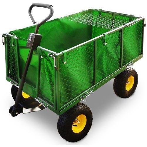 Wideshop Wózek transportowy 4 kołowy ogrodowy przyczepka