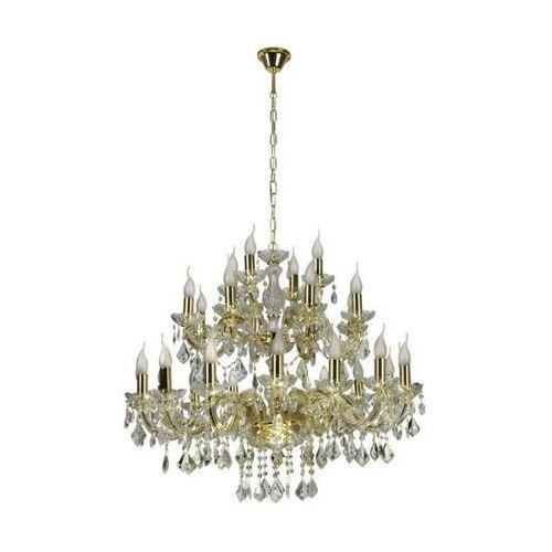 Lampa wisząca maria teresa 28x40w e14 złoty kryształ 30-94622 marki Candellux