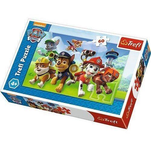 Puzzle 60 elementów - psi patrol, gotowi do akcji marki Trefl