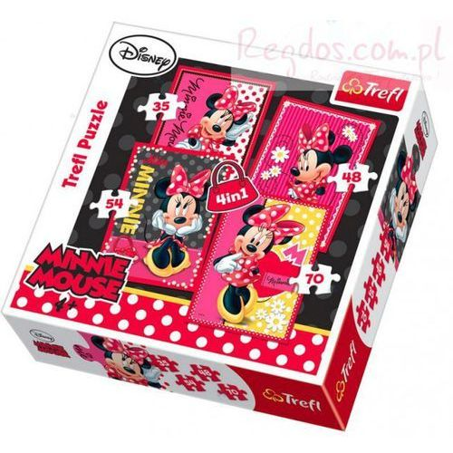 Trefl Puzzle 4 w 1 piękna myszka minnie