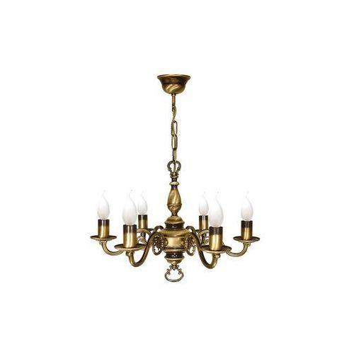 Lemir Świecznik 386/W6 lampa wisząca zwis 6x60W E14 patyna, 4022