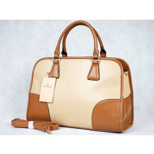 oryginalna torebka kuferek cm0554 - beżowy marki David jones