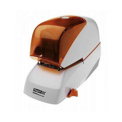 Zszywacz elektryczny Supreme 5080e srebrno-pomarańczowy 2 lata 80 kartek RAPID 20993411