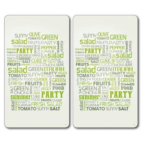 Kesper Ochronne płyty na blat i kuchenkę z ozdobnym napisem, szklana deska do krojenia i osłona w jednym (4000270365423)