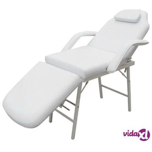 Vidaxl przenośny fotel kosmetyczny, ekoskóra, 185 x 78 x 76 cm, biały