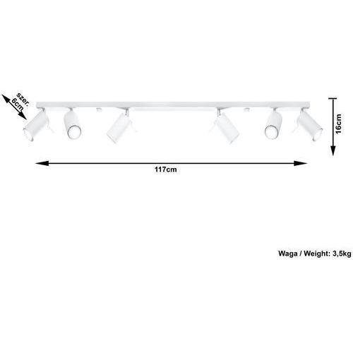 ring 6l sl.0333 plafon lampa sufitowa 6x40w gu10 biały >>> rabatujemy do 20% każde zamówienie!!! marki Sollux
