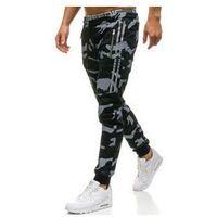 Spodnie męskie dresowe joggery czarne Denley W1601, kolor czarny