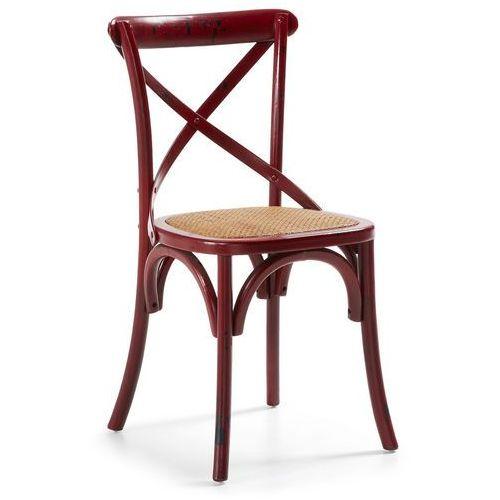 Krzesło LARENZA czerwone - czerwony