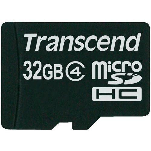 Karta pamięci microSDHC Transcend TS32GUSDC4, 32 GB, Class 4, 20 MB/s / 5 MB/s, TS32GUSDC4